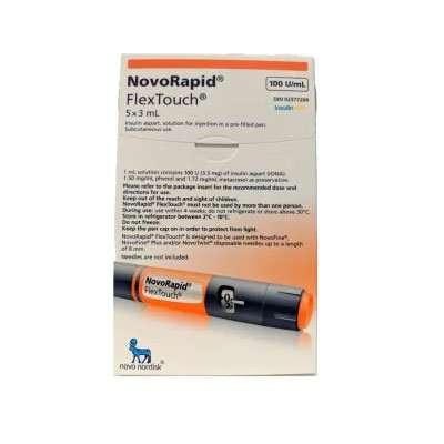 NovoRapid (NovoLog) FlexTouch Pen 100 Units / mL