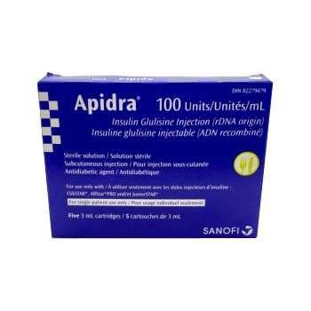 Apidra Cartridge 100 Units / mL