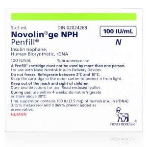 Novolin GE NPH Penfill Cartridge 100 Units / mL