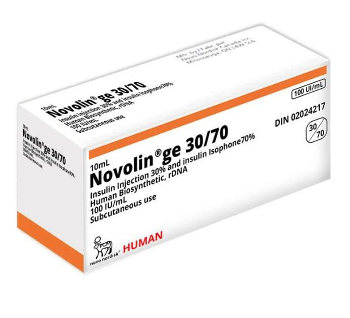 Novolin GE 30 / 70 Vial 100 Units / mL