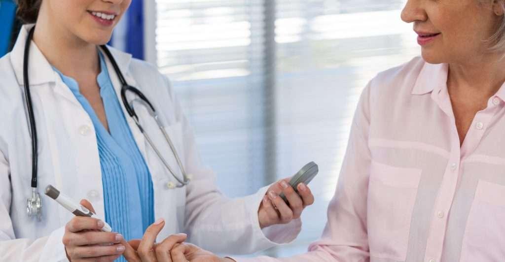 Doctor with Diabetes Patient