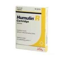 Humulin R Cartridge 100u/mL Suspension