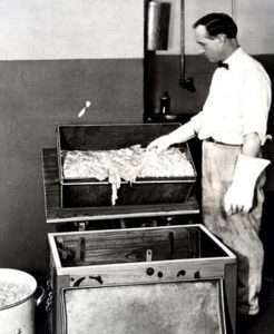Man making insulin from pig parts